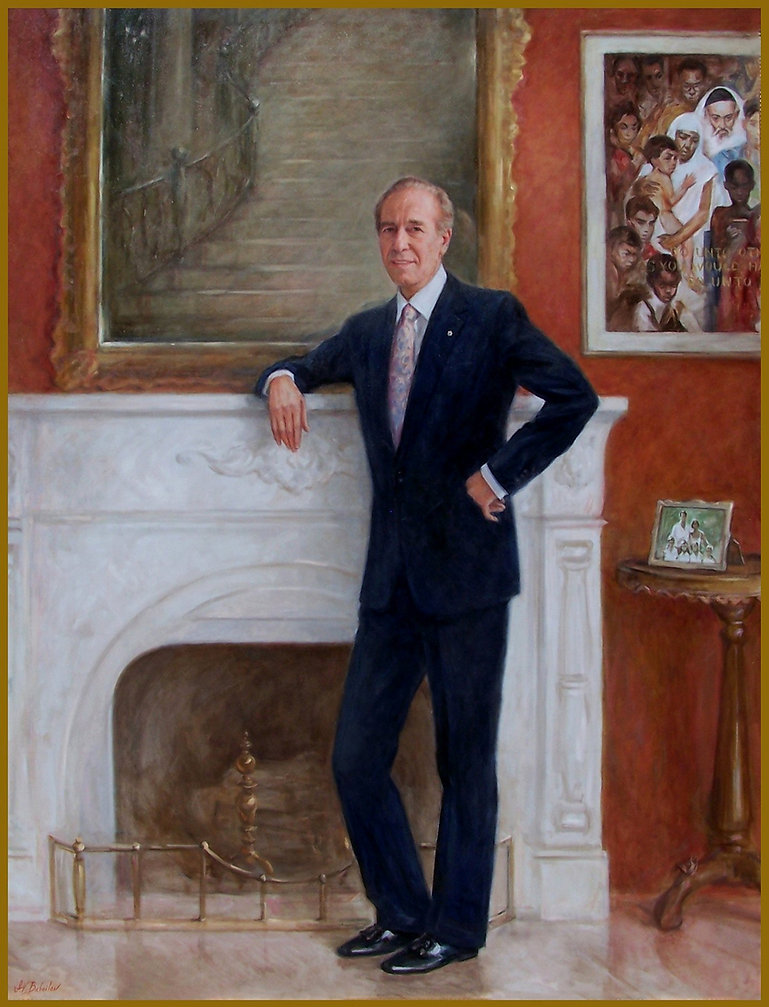 Official portrait of Isadore Sharp - Four Seasons Hotels and Resorts. Founder and CEO, by portrait artist Igor Babailov.