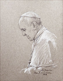 Pope Francis, life sketch by Igor Babailov