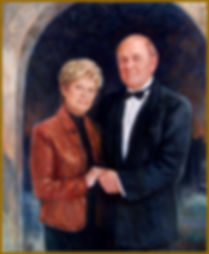 Portrait of Randolph and Patricia Doerter (oil on canvas), by Igor Babailov. Family collection: Nashville, TN