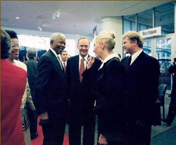 Igor Babailov with Nelson Mandela. Ottawa, Canada.