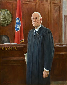 Official portrait of Judge Seth W. Norman, portrait by portrait artist Igor Babailov. Nashville, TN