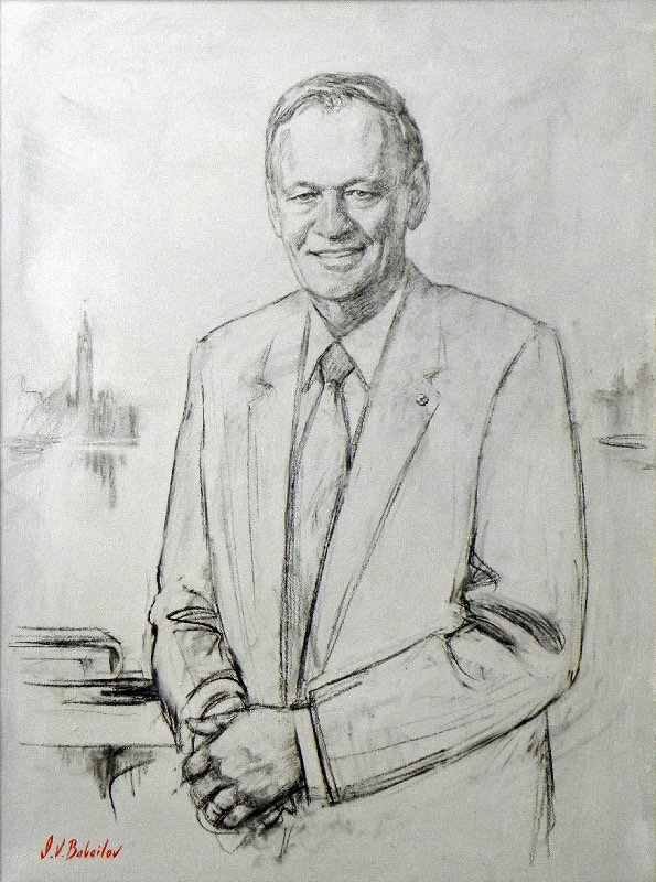 Portrait of The Right HonourableJean Chretien, 20th Prime Minister of Canada, by portrait artist Igor Babailov. Collection: Power Corporation of Canada