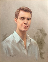 The Eberstadt Children - Portrait of Rick. Pastel by portrait artist Igor Babaiov. Collection: Washington, DC