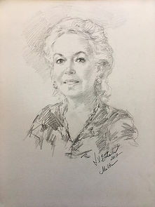 Portrait of Tatiana Maligina (graphite) - Malta, Drawings from life by Igor Babailov.