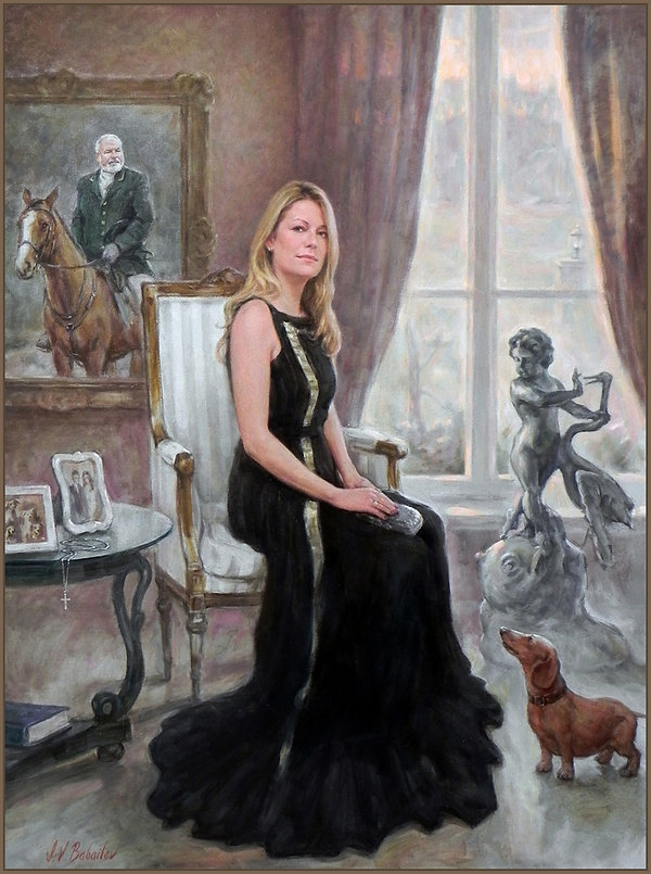 Portrait of Theresa Menefee, by Igor Babailov. Private Collection.