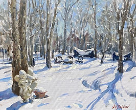 Winter Fairytale (oil on canvas), painting from life by Igor Babailov, plein air paintings.