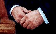 Official Portrait of Prime Minister Brian Mulroney by Igor Babailov - Painting hands. The Seven Essentials of Portraiture.