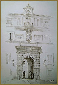 Papal Palace, Castel Gandolfo, Life drawing by Igor Babailov