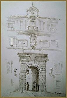 Apostolic Palace, Castel Gandolfo, Vatican. Drawing from life by Igor Babailov