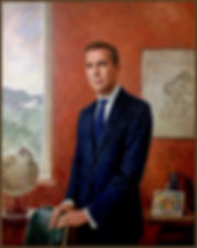 Official portrait of Governor Mark Carney, The Bank of England, by portrait artist Igor Babailov