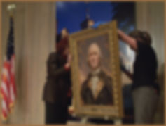 Portrait of George Washington by Igor Babailov at Mount Vernon Museum.