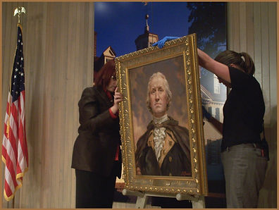Portrait of George Washington by Igor Babailov at Mount Vernon Museum.