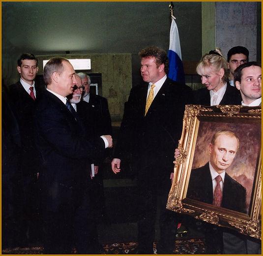 President Putin Official Portrait Presentation. Portrait by Igor Babailov.