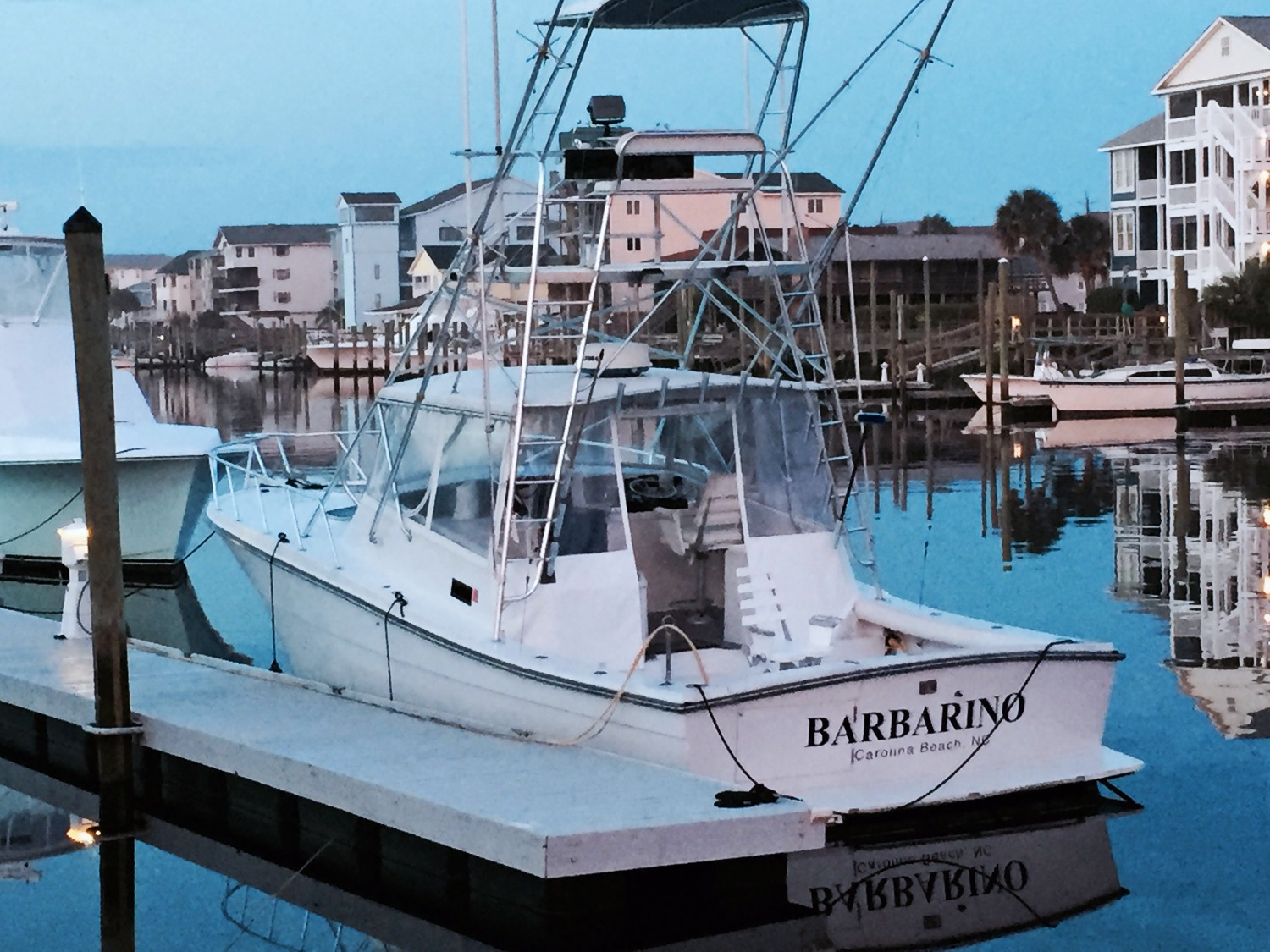 carolina beach fishing charter boat