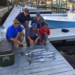 Charter fishing catch carolina beach