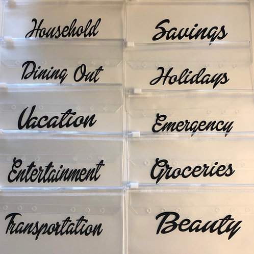 10-Pack Bundle - Cash Savings Envelopes