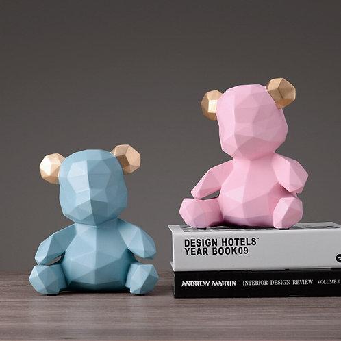 Cents Savvy Teddy Bear Money Box Figurine Coin Bank