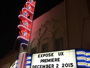 """Expose UX"" Premiere at the Texas Theater"