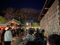 New Year's visit to shrines in the Ozenji area
