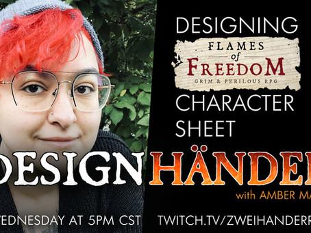 Designhänder 2: Flames of Freedom UX Design