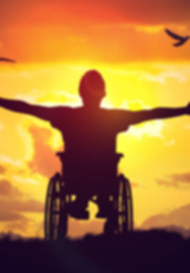 Disabled handicapped man has a hope. He