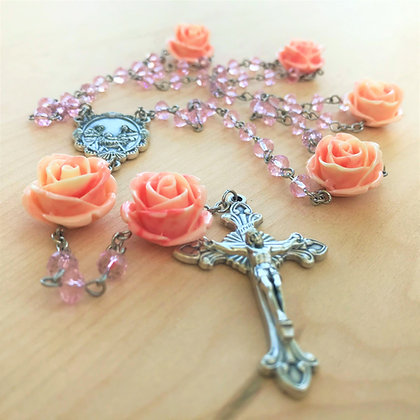 Queen of the Roses Rosary by Born Again Rosaries with Holy Family Center