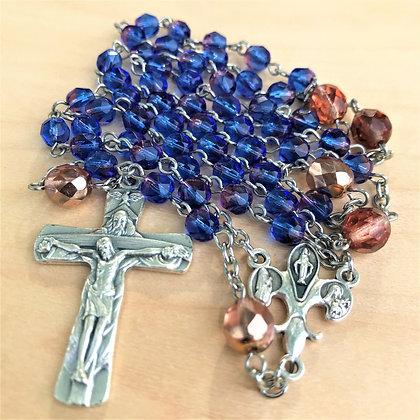 Czech Devotions Azure Trinity Rosary