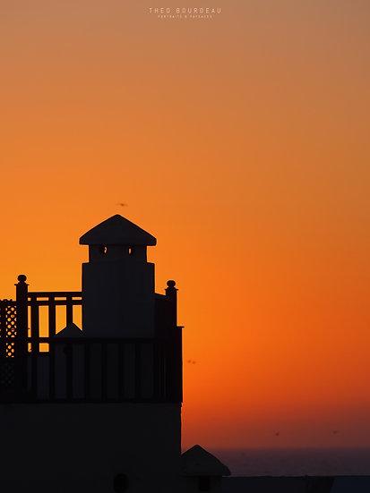 Coucher de soleil sur l'océan - Essaouira