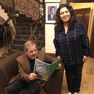 Sharing Policy paper with Jordanian Senator Osama Malkawi