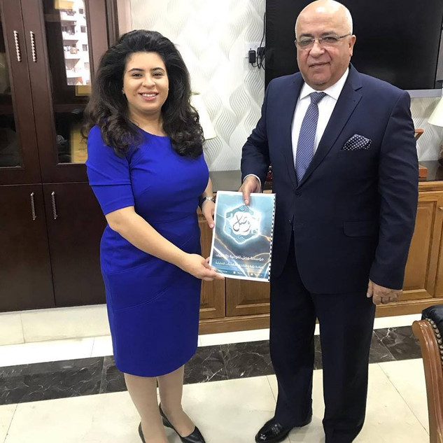 Sharing policy paper with H.E. Musa Maaytah Jordanian Minister of Political & Parlimentary Affairs