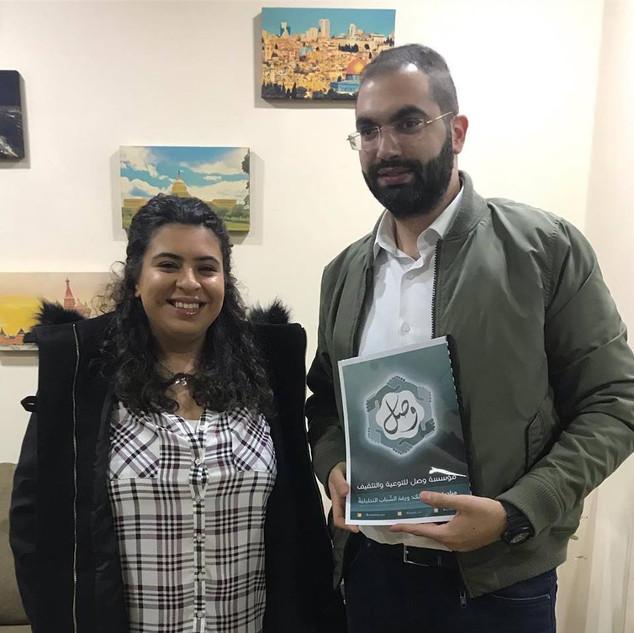 Sharing Policy paper with Jordanian Parliament member Kais Zeyadin