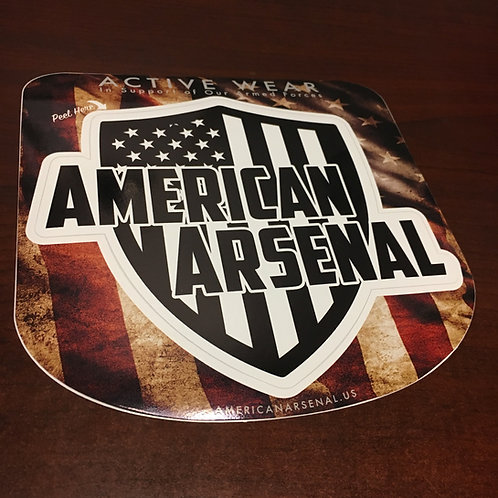 """3 Pack - American Arsenal 4""""x4"""" Decal"""