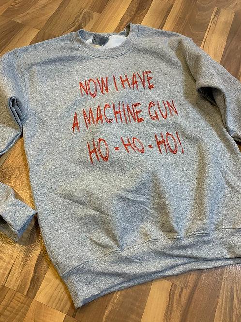 Machine Gun tee -Gray Sweater