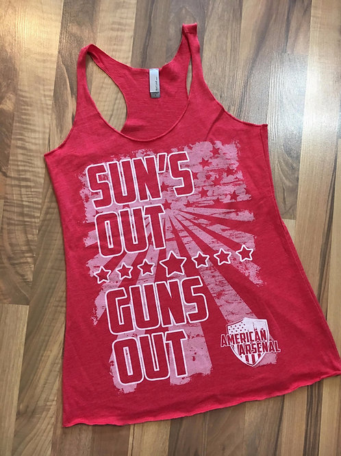 Womens Suns Out Guns Out Tank