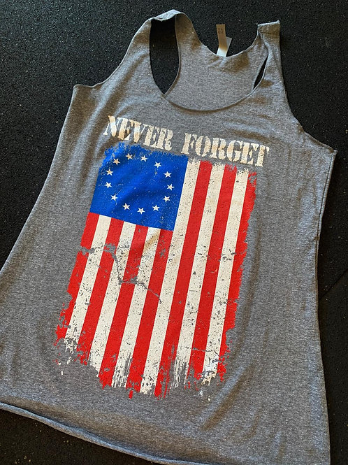 Womens - Never Forget - Betsy Ross Flag Edition - Tank