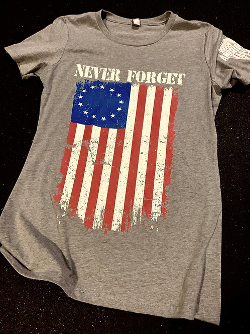 Womens - Never Forget - Betsy Ross Flag Edition