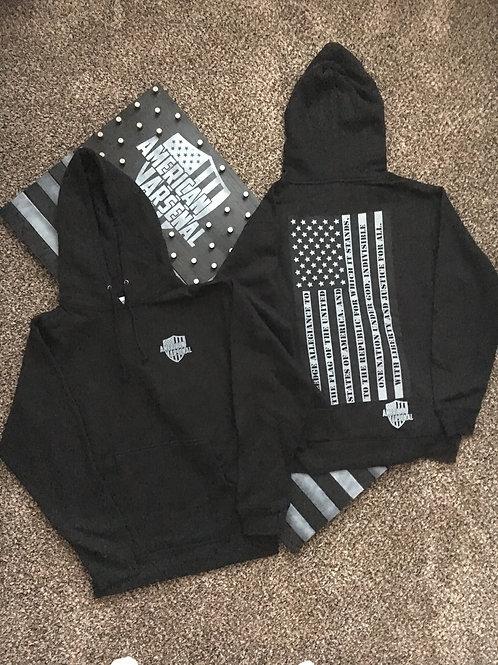 Unisex Black Pullover Hoodie