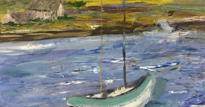 Boat in Iona Bay