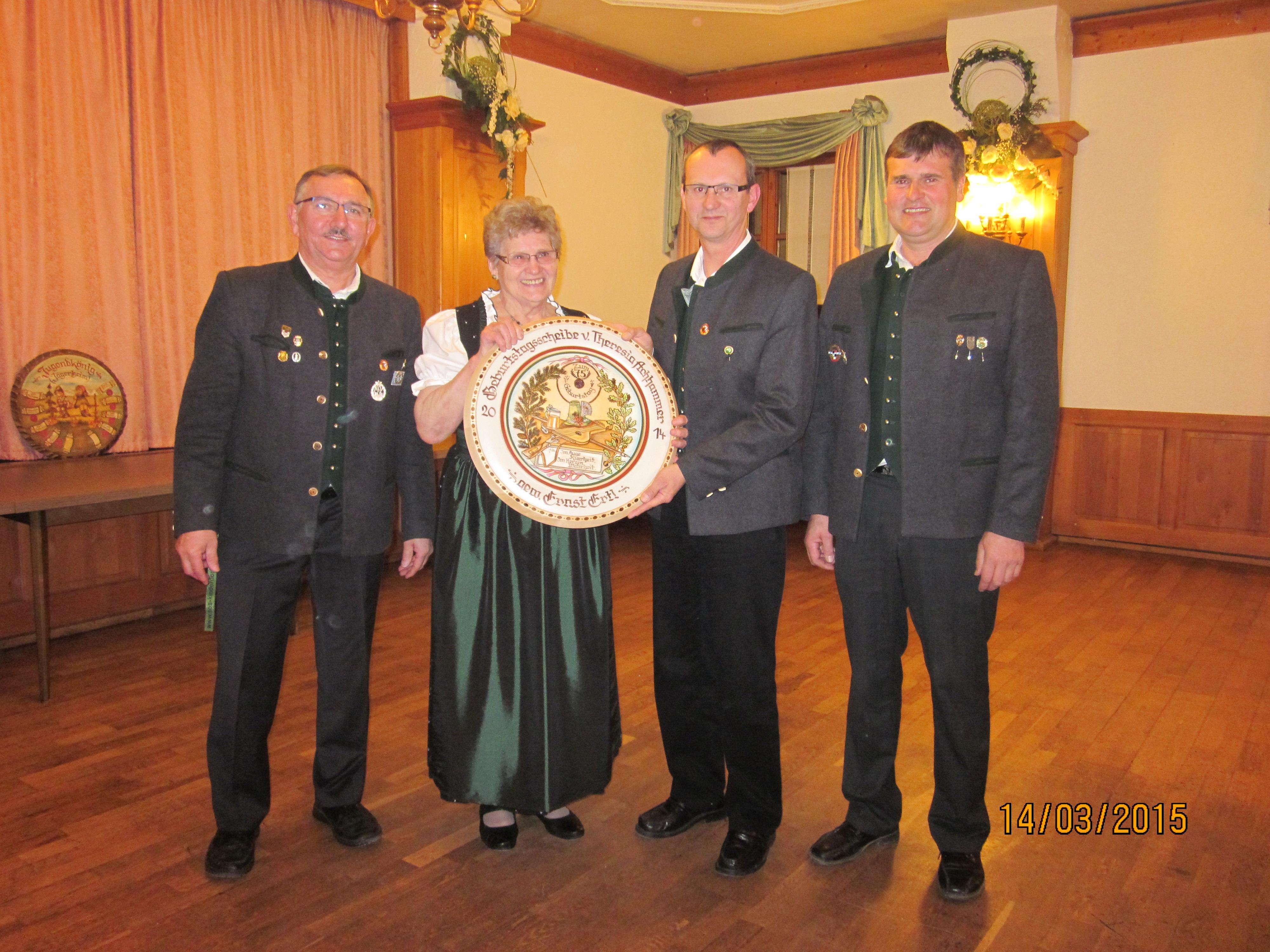 75. Geburtstag von Resi Achhammer
