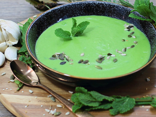 Vegan Pea & Mint Soup recipe