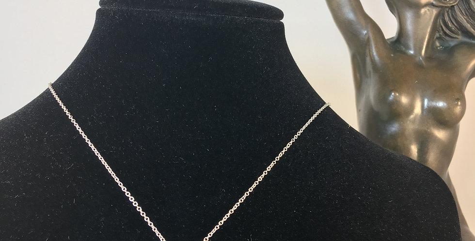Circle Knot Diamond Silver Necklace