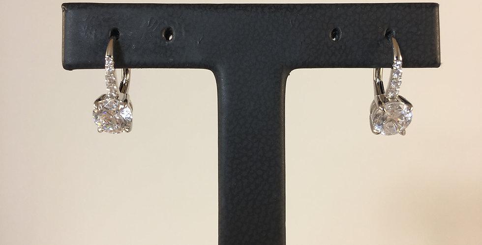 Small Classic Diamond Lever-back