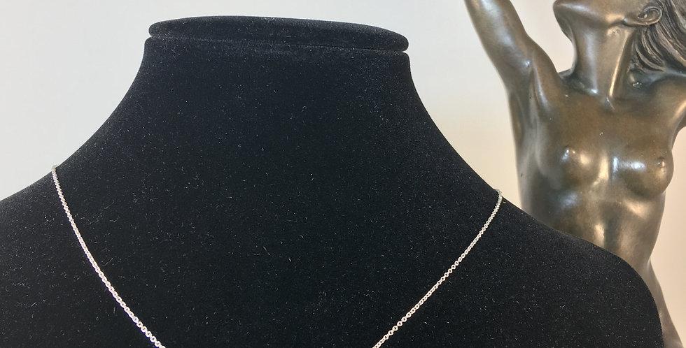 Lucky 7 Diamond Silver Necklace