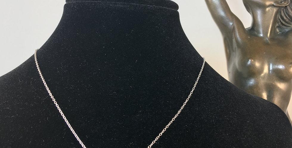 Sideways Silver Heart Necklace