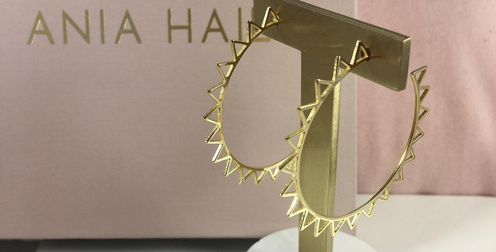 Spike Hoop Earrings Gold