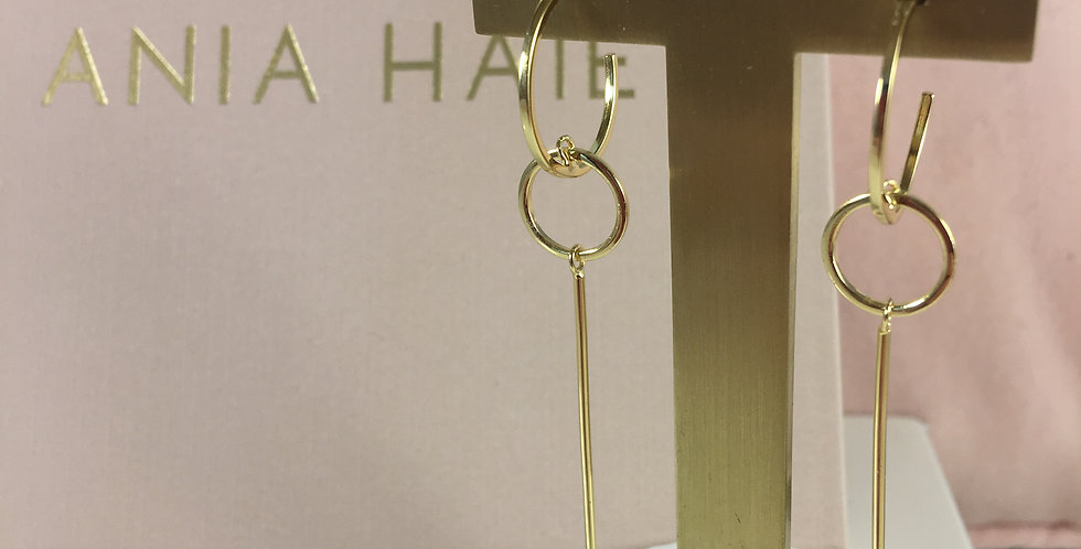 Modern Solid Drop Earrings Gold