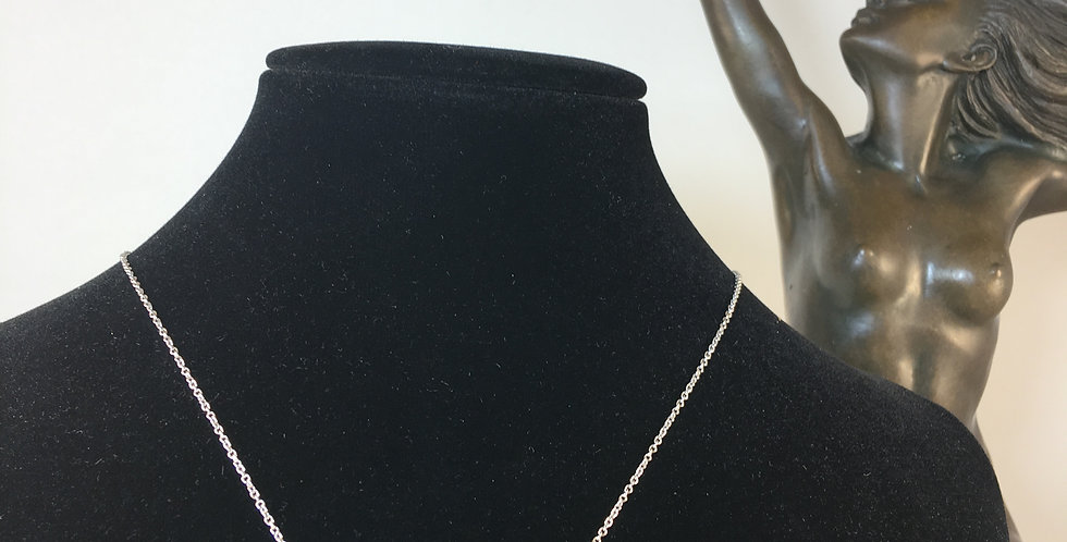 Three Bezel-Set Silver Diamond Necklace