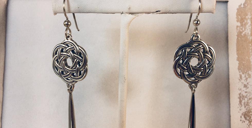 Interlok Eternity Circle French Wire Earrings