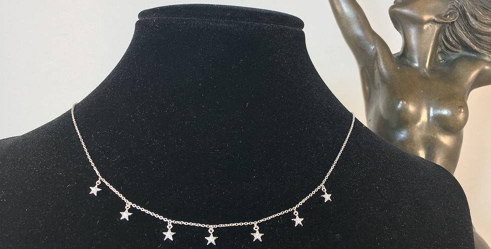 Multi Mini Star Diamond Necklace