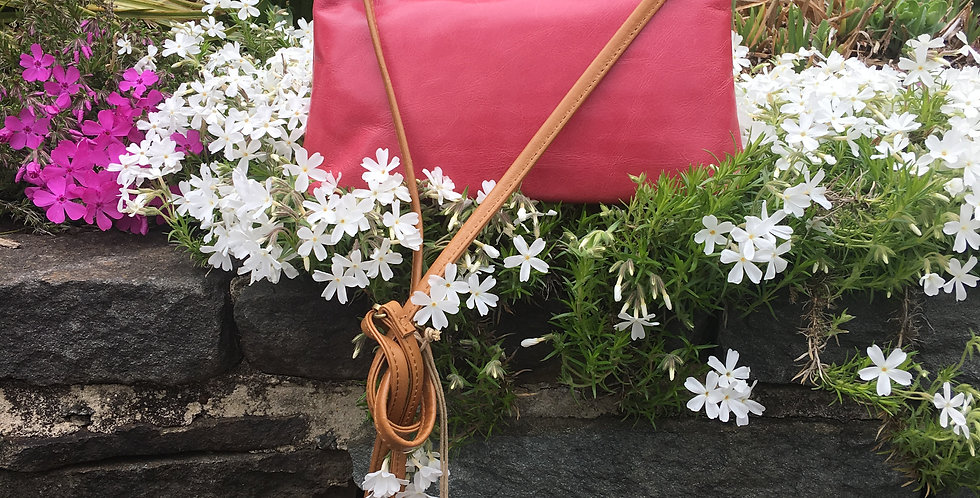 Darcy Pink Convertible Crossbody Clutch